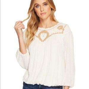Free People Begonia Embroidered Top NWT